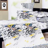 Sporting Style, 100% Cotton 4PC Duvet Cover Set (King Size)